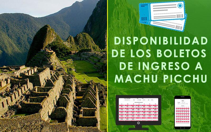 disponibilidad boleto machu picchu